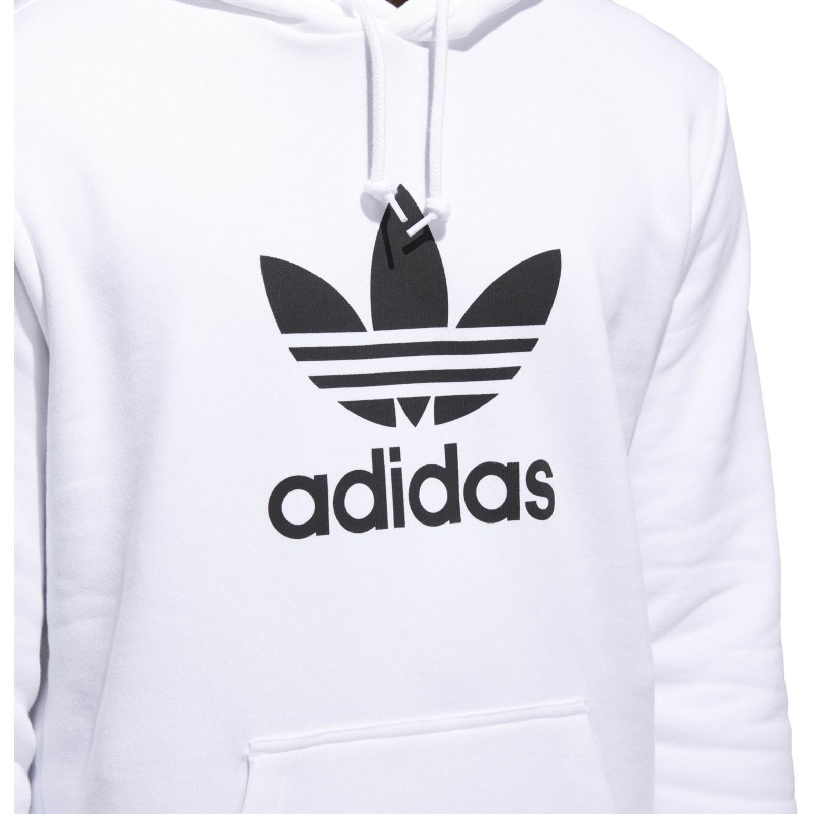 bluza adidas biały trefoil